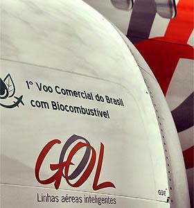 Avia��o brasileira faz primeiro voo comercial com biocombust�vel