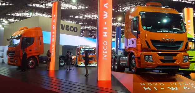 Destaque da Iveco � para o extrapesado Stralis Hi-Way (Bruno Vasconcelos/DP/DA Press)