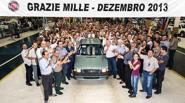 �ltima unidade do Mille - Fiat/Divulga��o