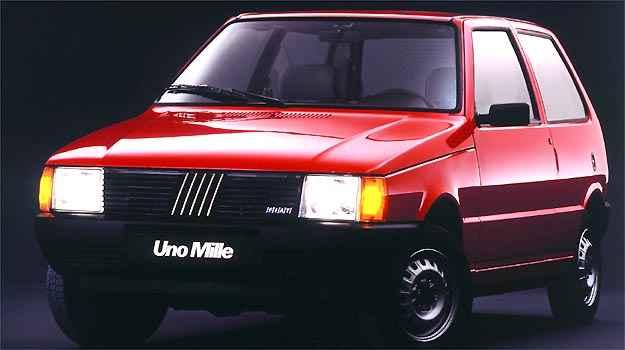 Uno Mille foi o primeiro 1.0 da montadora, em 1990 - Fiat/Divulga��o