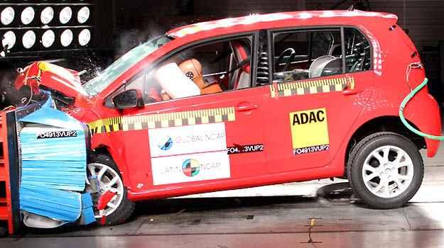 Up! recebeu nota m�xima no teste de impacto frontal (Fotos: Latin NCAP/Divulga��o)