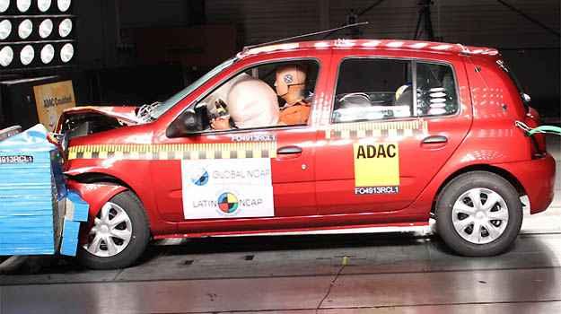Unidade do Clio equipada com airbag recebeu tr�s estrelas -