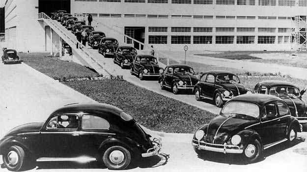 Início da produção do Fusca no Brasil, em 1959 - Volkswagen/Divulgação