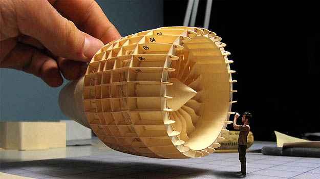 Artes�o reproduziu com total fidelidade a turbina GE90, produzida pela General Eletric -