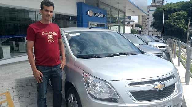 Ivan Souza é fã da Chevrolet e comprou um Cobalt na Grande Minas - Marcus Celestino/EM/D.A PRESS