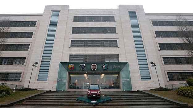 Sede da Fiat SpA, em Turim, onde foi criada a Fiat Chrysler Automobiles ( AFP PHOTO / MARCO )