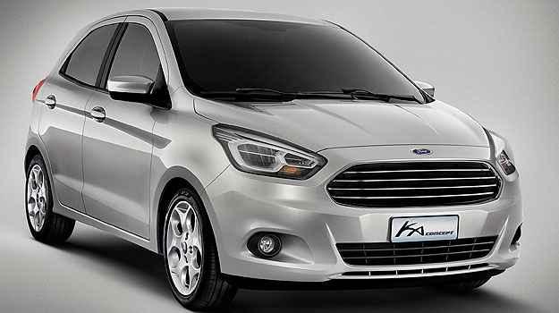 O novo Ka, ainda conceito, ser� equipado com motor 1.0 de baixo consumo em agosto - Ford/Divulga��o