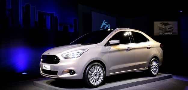 Ford apresenta novo Ka Sedan no Brasil e na �ndia