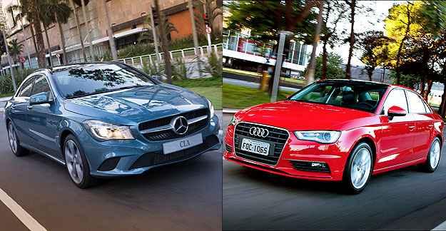 Diferen�a de R$ 34 mil separa dois sed�s que disputam mesmo mercado (Est�dio Malagrine/Mercedes-Benz/Divulga��o e Audi/Divulga��o)