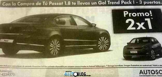 An�ncio em jornal argentino revela promo��o que d� um Gol na compra de um Passat - Reprodu��o da internet/Autoblog Argentina