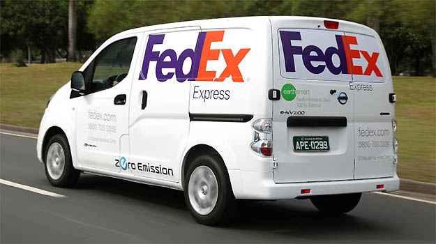 Furg�o el�trico foi usado pela FedEx no Rio de Janeiro -