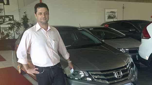 O administrador Marcos José Domiciliano leva Honda City adquirido na Banzai  -  Marcus Celestino/EM/D.A. Press