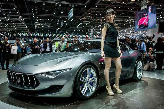 Maserati apresenta o Alfieri Concept na Su��a. Clique e veja fotos do evento! (AFP PHOTO / PIERRE ALBOUY )