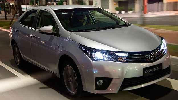 Vers�o Top de Linha tem farol x�non e luzes de LED (Toyota/Divulga��o)