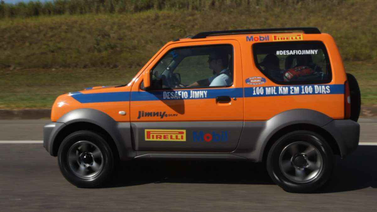 Suzuki Jimny enfrenta desafio de 100 mil km em 100 dias