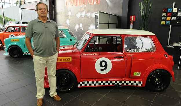 Roberto Mour�o foi quem teve a ideia de levar o carrinho para as pistas (Cristina Horta/EM/D.A Press)