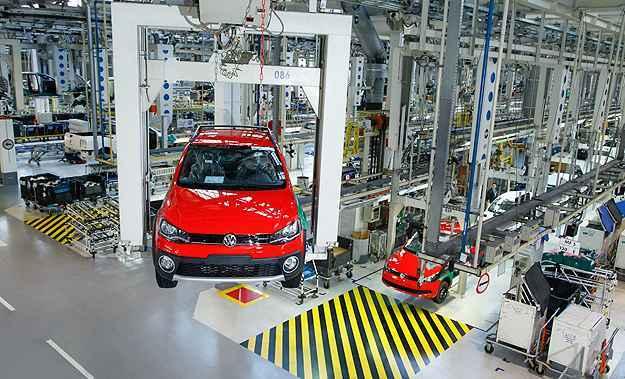 Produ��o em mar�o chegou a 254.019 unidades, queda de 17,7% ante mar�o do ano passado (Volkswagen/Divulga��o)
