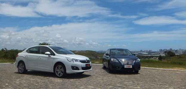 Citroën deu mais esportividade ao novo C4, enquanto a Nissan segue conservadora - Bruno Vasconcelos/DP/DAPRESS