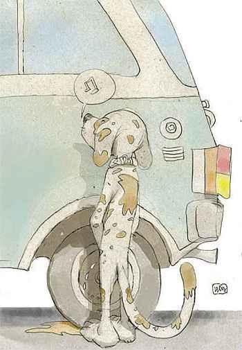 Saiba como evitar preju�zos com xixi de cachorro nas rodas do carro