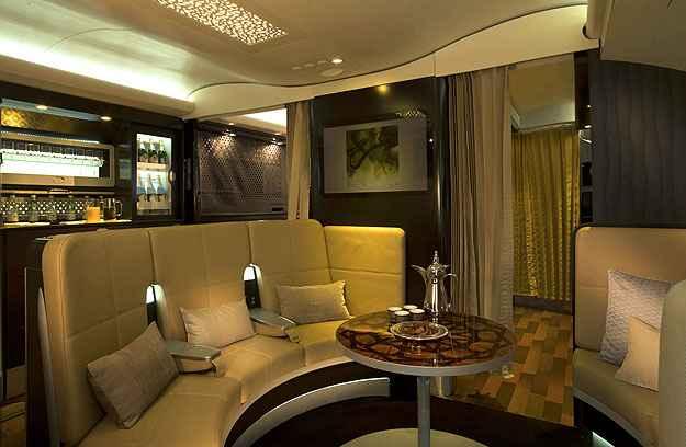 Passageiros da primeira classe t�m acesso a um lobby exclusivo (Etihad/Divulga��o)