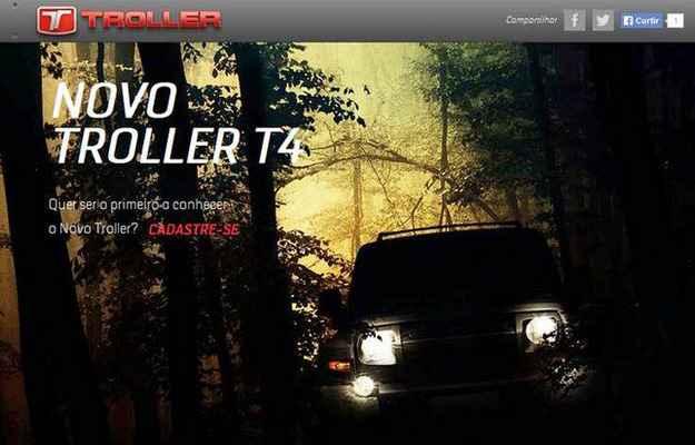 No site do jipe, � poss�vel cadastrar-se para acompanhar novidades - Troller/divulga��o