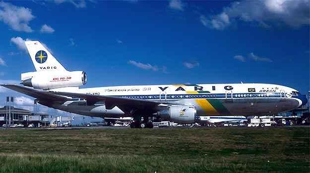 DC10 da Varig trouxe dos Estados Unidos a Sele��o Tetracampe� em 1994  ((AalainDurand/Airliners.net/Reprodu��o))