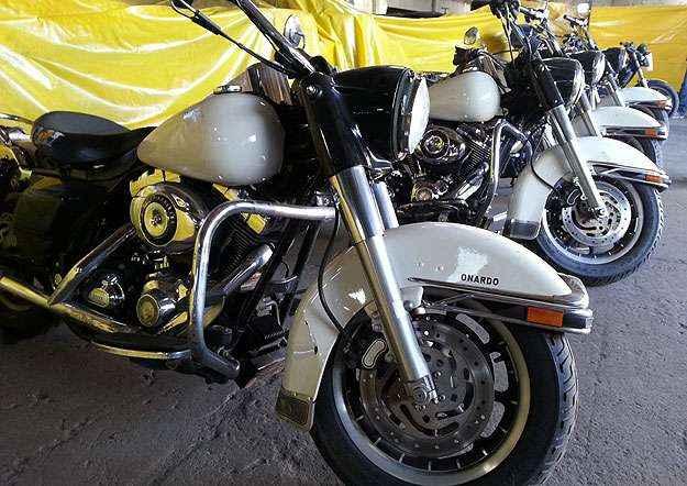 Harley-Davidson Road King Police foi fabricada em 2007 (Thiago Ventura/EM/D.A Press)