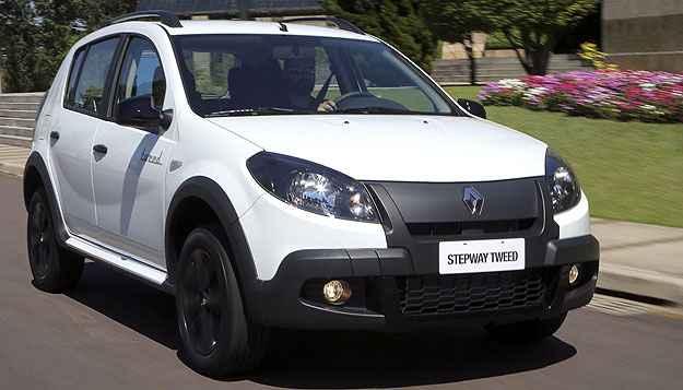 S�rie especial Stepway Tweed foi uma das �ltimas novidades do Sandero (Renault/Divulga��o)