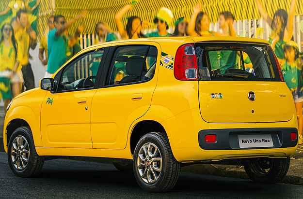 E se o Brasil for mal na Copa? Ser� que o Uno Rua vai emplacar? (Fiat/Divulga��o)