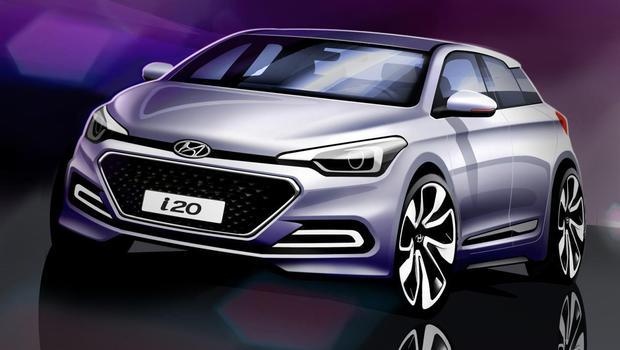Imagem-teaser � mais atrativo que a vers�o real do Hyundai i20 (Hyundai/Divulga��o)
