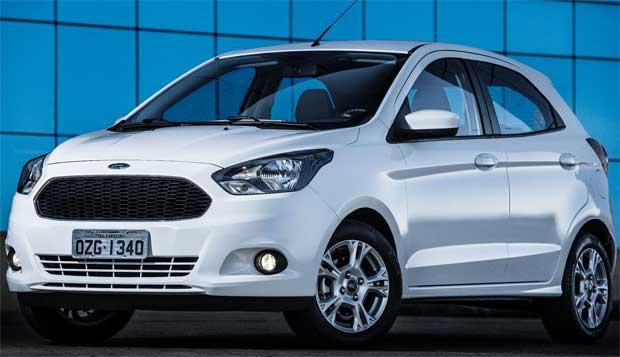 Frente tem a nova identidade global da ford com grade trapezoidal (Ford/Divulga��o)