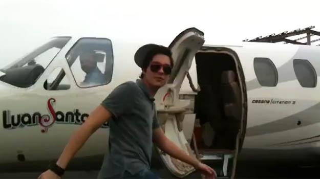 Luan Santana � um dos artistas que usam o Cessna Citation - Luan Santana/Divulga��o