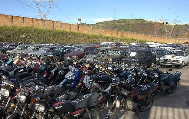 Leil�o do Detran vai vender 261 ve�culos em Belo Horizonte