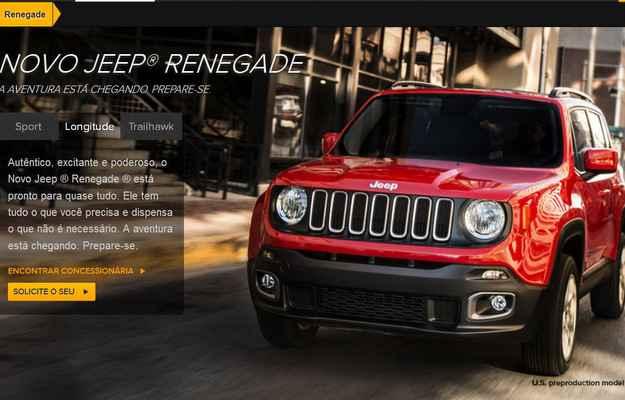 Jeep abre cadastro de reserva para comprar o Renegade