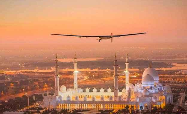 Avi�o conclui primeiro trecho de viagem ao redor do mundo com energia solar