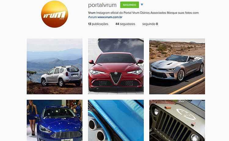 Portal Vrum estreia conta no Instagram