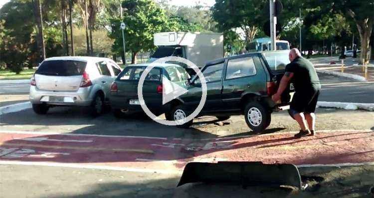 'Sou o homem mais forte do Brasil', diz ciclista que levantou carro na ciclovia