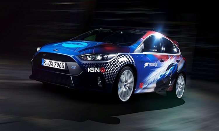 Ford mostra Focus RS Forza e GT durante feira de games na Europa