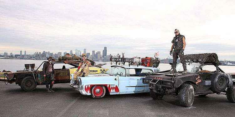 Carros de Mad Max invadem Seattle para fazer corridas gratuitas do Uber