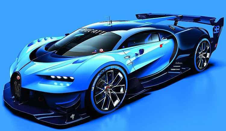 Bugatti revela novo carro de corridas Vision Gran Turismo Concept