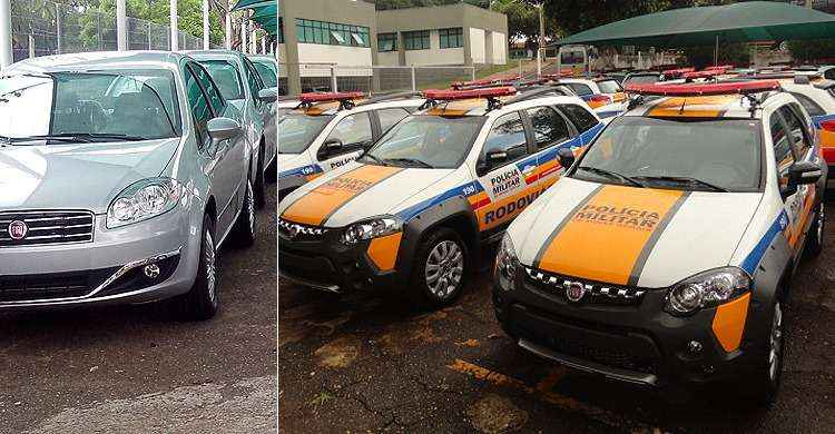 PM renova frota com Fiat Linea, Adventure e Chevrolet S10 Flex em Minas