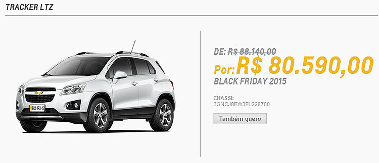 Black Friday: Chevrolet, Renault e v�rias marcas oferecem carros com desconto