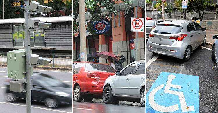 Al�m do excesso de velocidade, multas por estacionamento proibido tamb�m s�o frequentes  - Gladyston Rodrigues e Marcos Vieira/EM/D.A Press