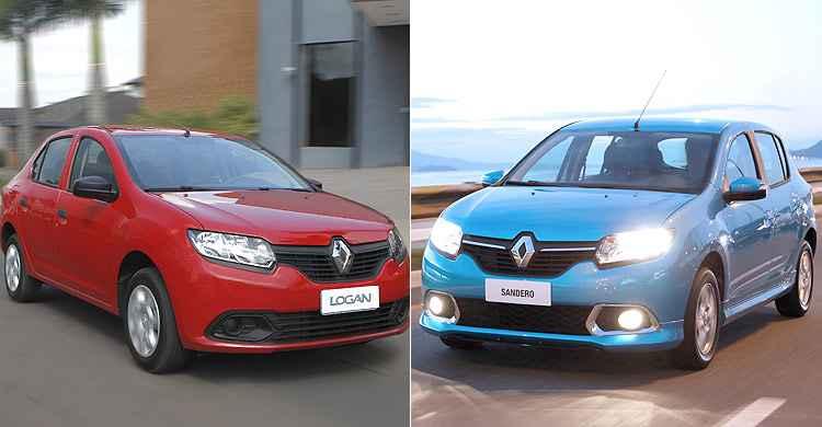 Recall � para as variadas vers�es do Sandero e Logan - Renault/Divulga��o