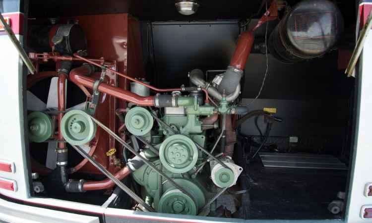 Motor OM 352 produzia 130cv (cavalos) de potência, o suficiente para padrões da época - Thiago Ventura/EM/D.A. Press
