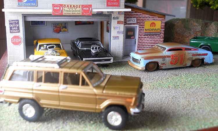 Al�m dos carrinhos, colecionadores v�o exibir cen�rios com os modelos - Miniatura Esporte Clube/Divulga��o