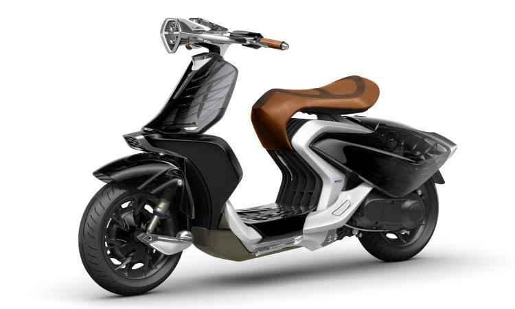 Scooter conceito Yamaha 04Gen tem design retr� e solu��es futuristas