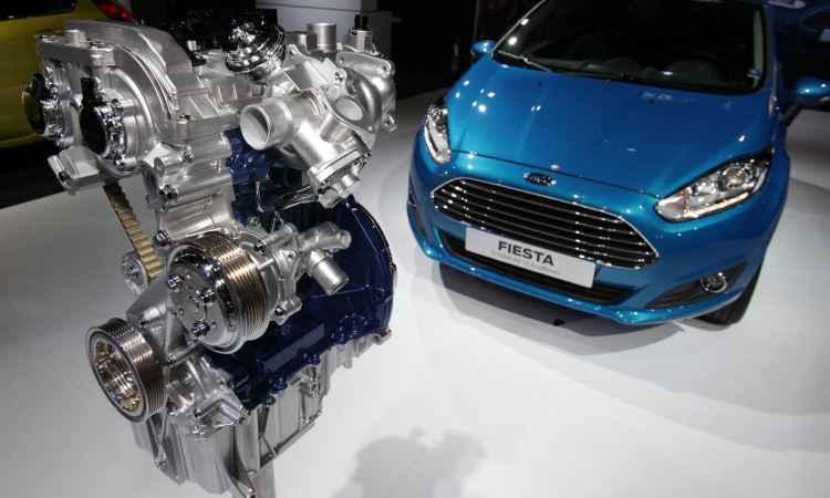 Motor 1.0 turbo EcoBoost estreia apenas na vers�o topo do Ford Fiesta, a partir de R$ 71.990