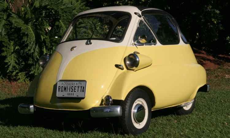 Romi-Isetta, primeiro automóvel produzido no Brasil em 1956 - Fundação Romi/Divulgação