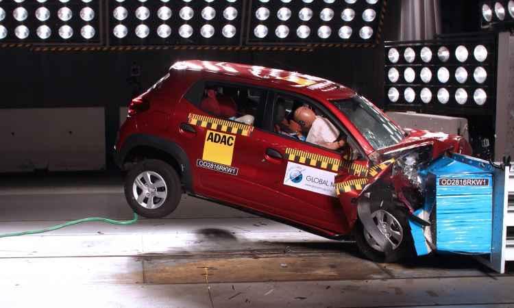 Renault Kwid decepciona em novo teste de impacto do Global NCAP na �ndia